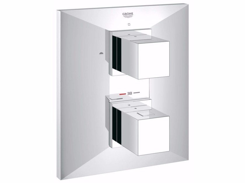 Wall-mounted bathtub/shower mixer with diverter ALLURE BRILLIANT | Thermostatic bathtub mixer - Grohe