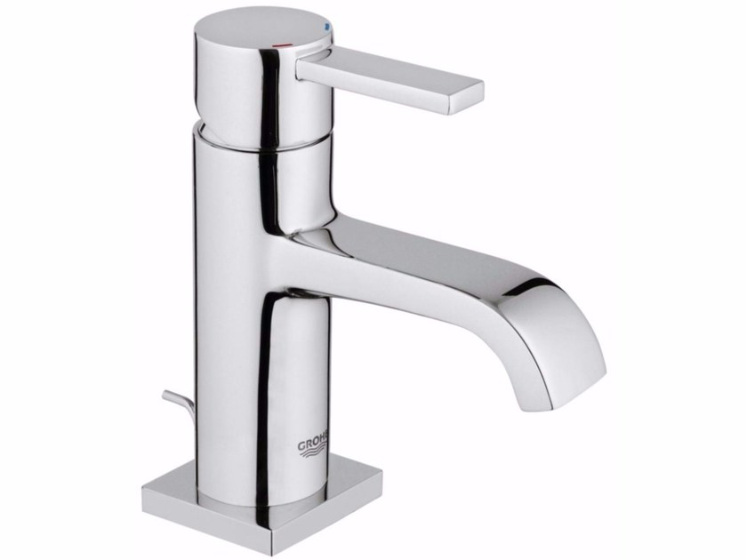 Single handle washbasin mixer with pop up waste ALLURE SIZE M | Countertop washbasin mixer - Grohe