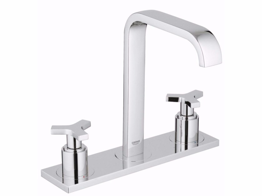 3 hole countertop washbasin tap ALLURE SIZE M | Washbasin tap with plate - Grohe