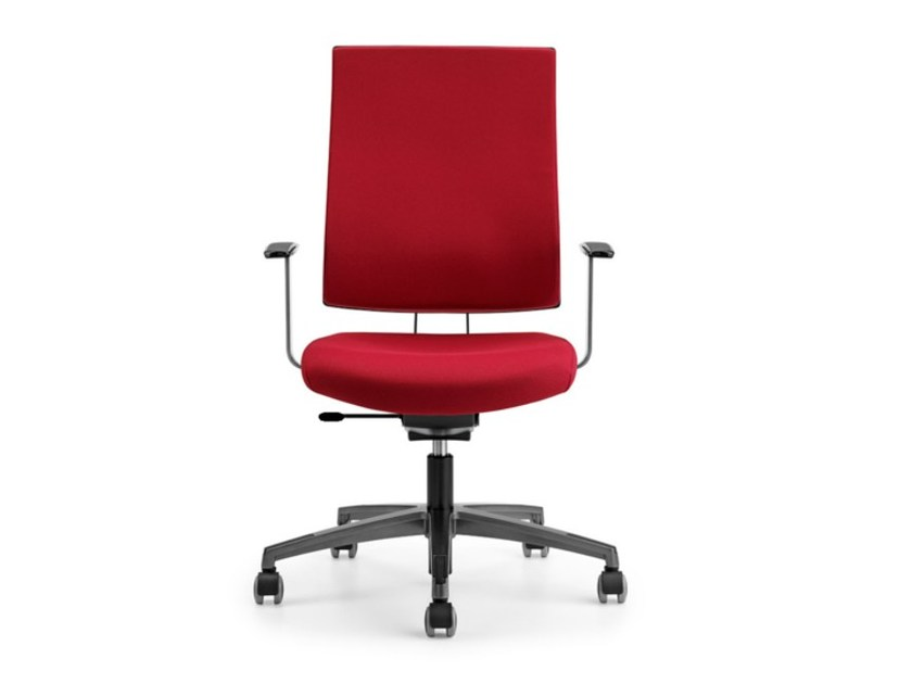 Fabric task chair with 5-Spoke base with armrests with casters ALLY 1720 - TALIN