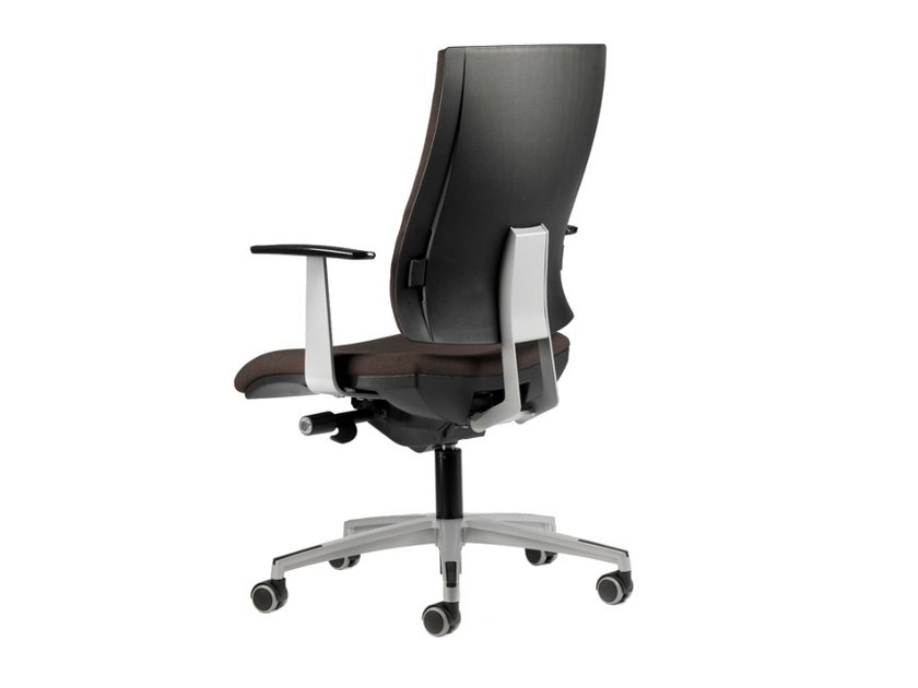 Fabric task chair with 5-Spoke base with armrests with casters ALLY 1727 by TALIN
