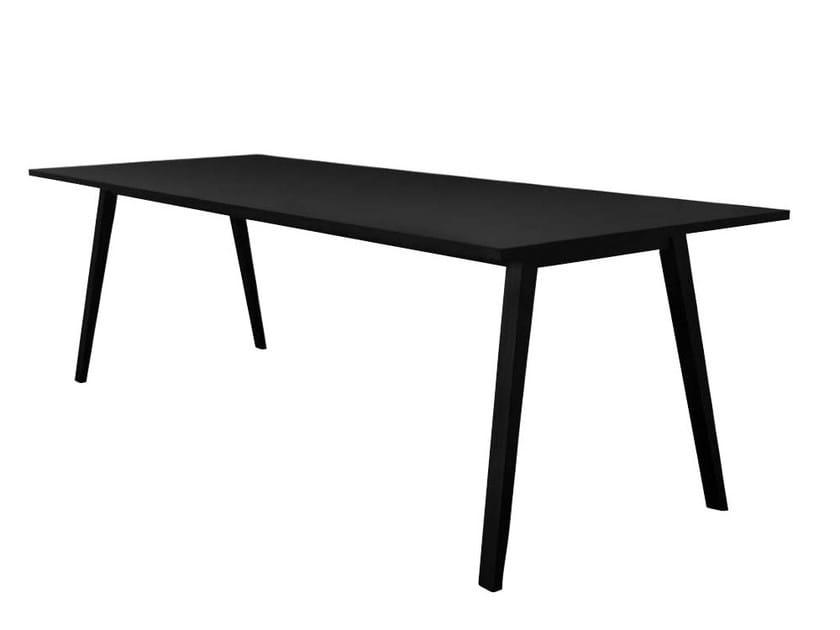MDF meeting table with laminate, linoleum or veneer ALLY by Danerka