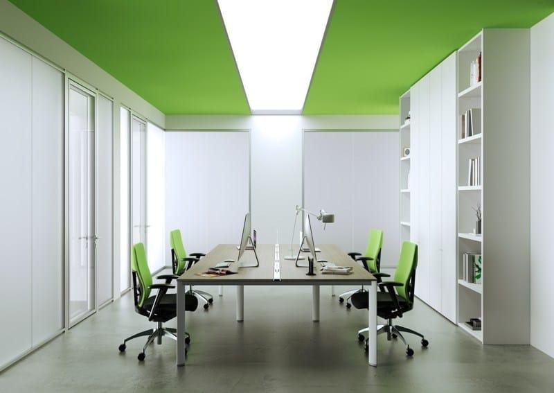 Partition wall / office storage unit ALLinONE BOX by MASCAGNI