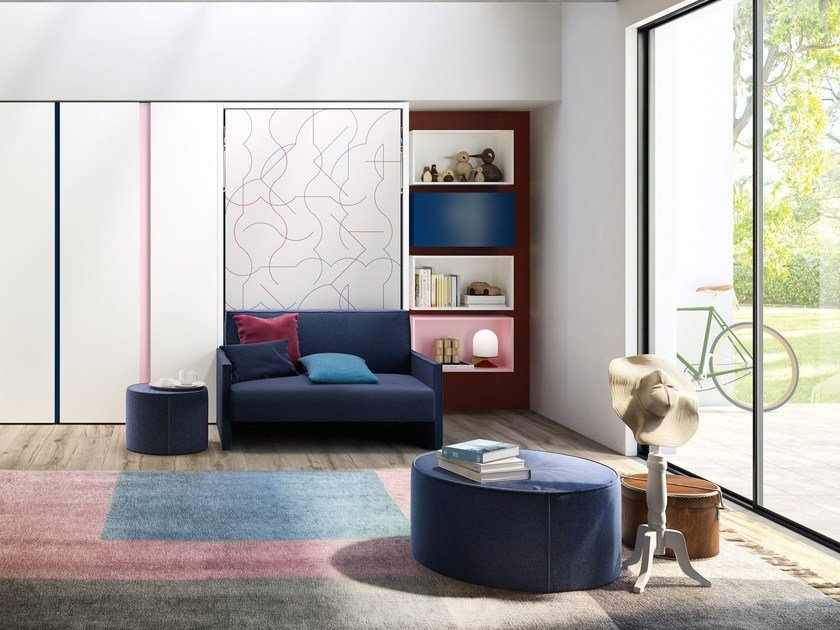 Convertible 2 seater sofa ALTEA BOOK 120 SOFA by CLEI