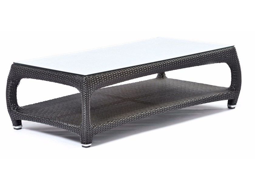 Rectangular coffee table with glass top ALTEA | Rectangular coffee table by Varaschin