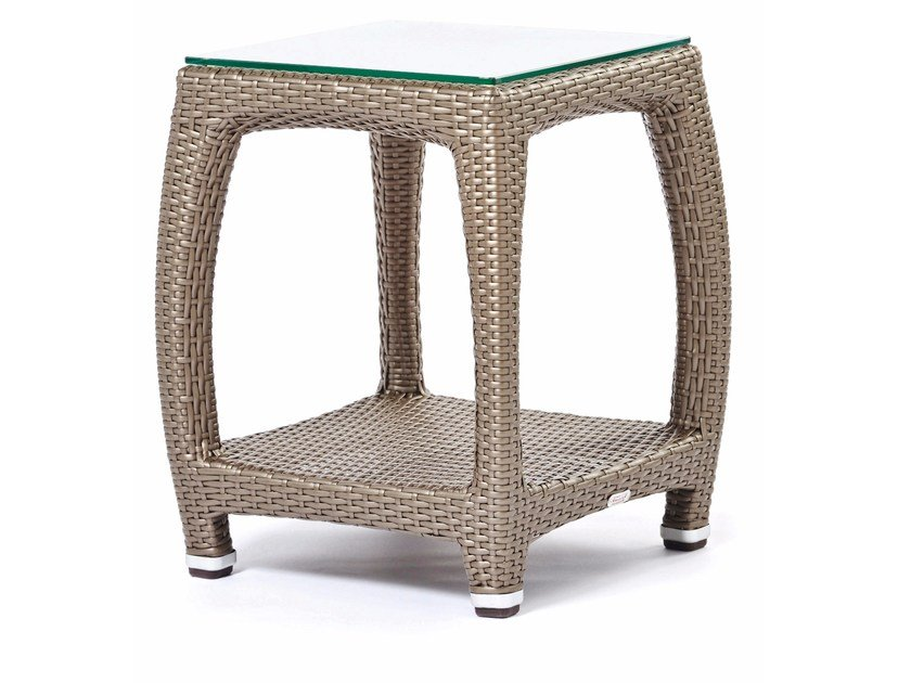 Square garden side table ALTEA | Square coffee table - Varaschin