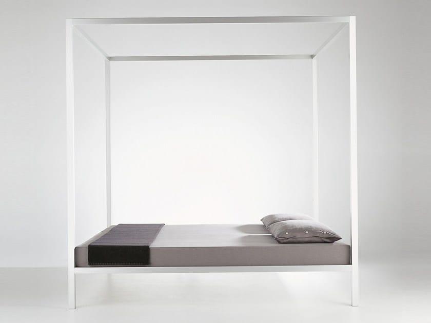 Aluminium double bed ALUMINIUM BED | Canopy bed - MDF Italia