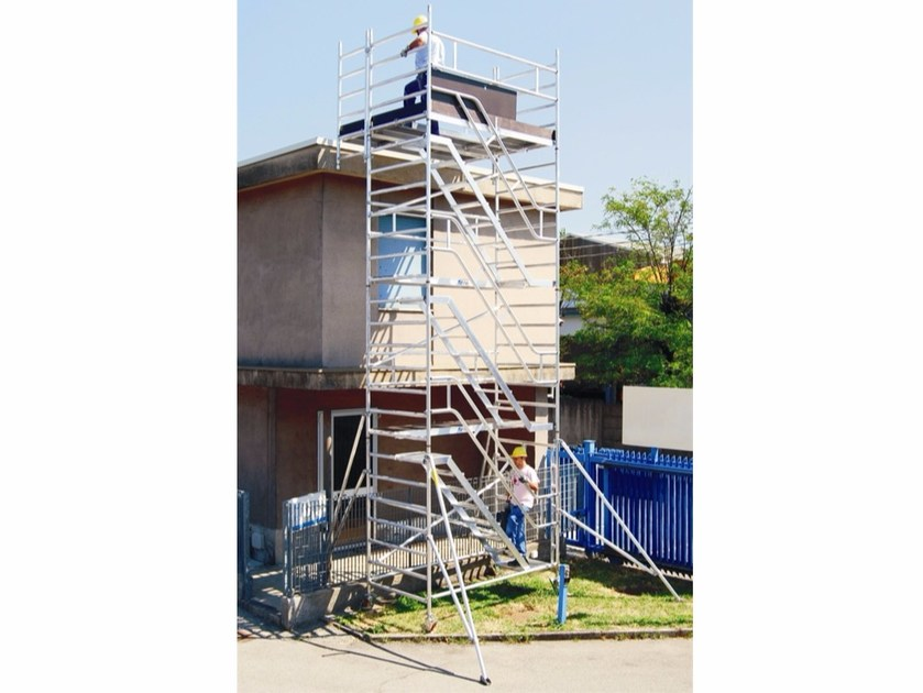 Mobile scaffolding for construction site ALUPONT SERVICE TOWER - Frigerio Carpenterie