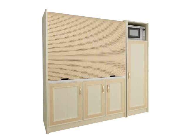 Mini kitchen with tambour doors AMARCORD K118 - MOBILSPAZIO Contract