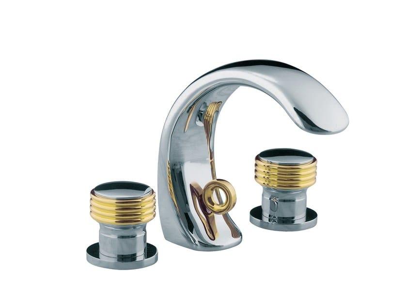 3 hole countertop washbasin mixer AMBOISE   3 hole washbasin mixer - rvb