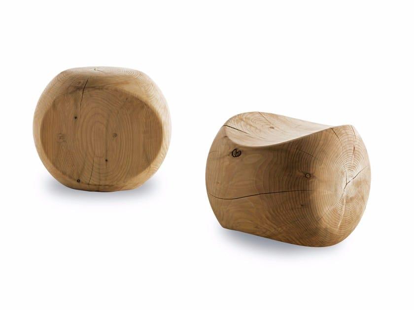 Cedarwood stool AMEDEA by Riva 1920