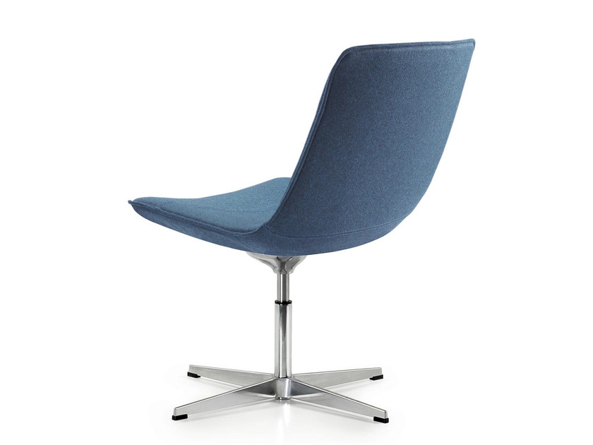 Swivel reception chair with 4-spoke base AMELIE | Reception chair - Quinti Sedute
