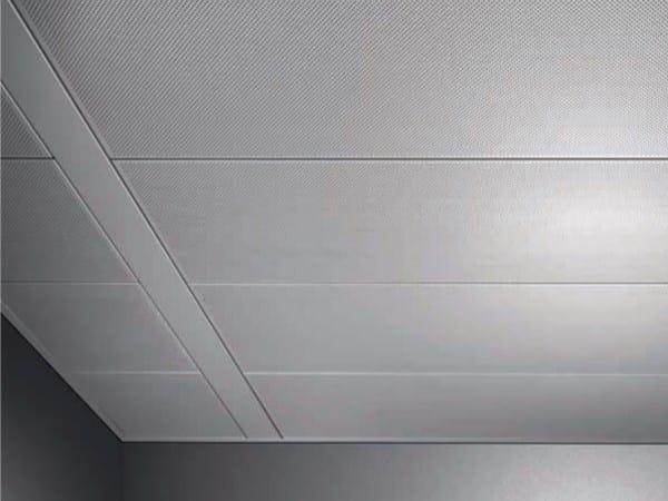 Metal ceiling tiles AMF MONDENA® - System I - Knauf AMF Italia Controsoffitti