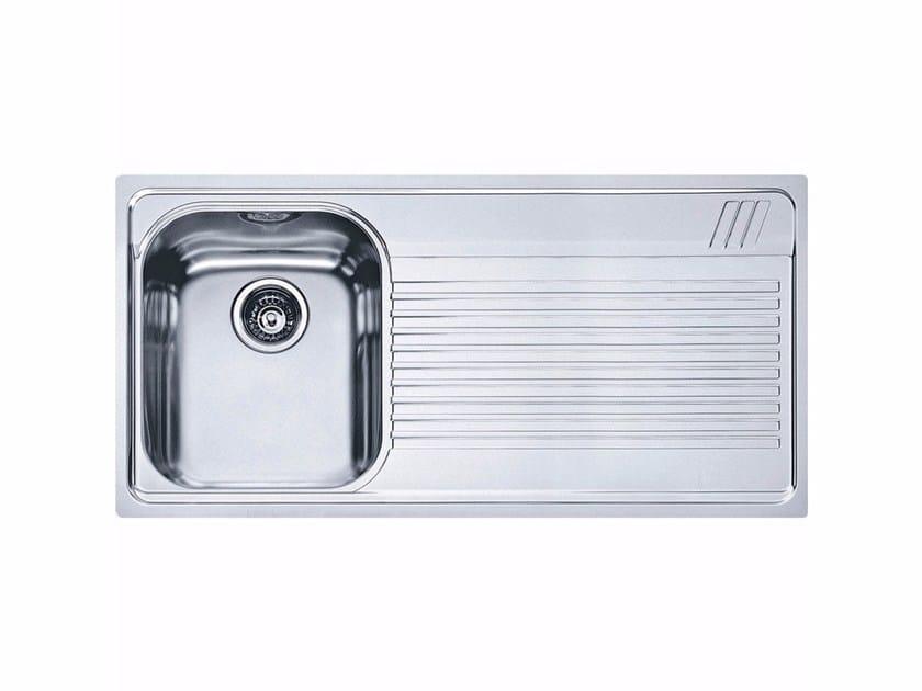 Lavello a una vasca da incasso in acciaio inox con sgocciolatoio AMX 611-L - FRANKE