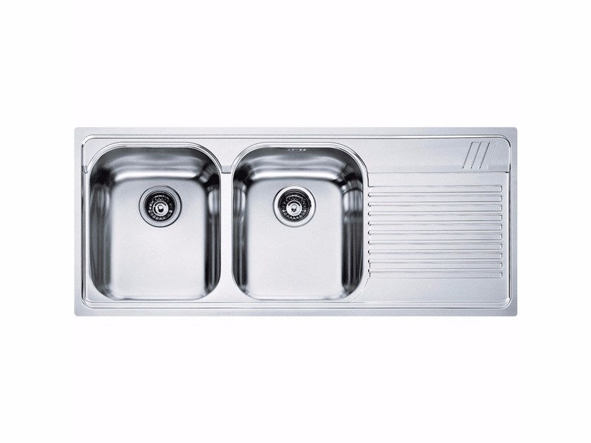 Lavello a 2 vasche da incasso con sgocciolatoio AMX 621 - FRANKE