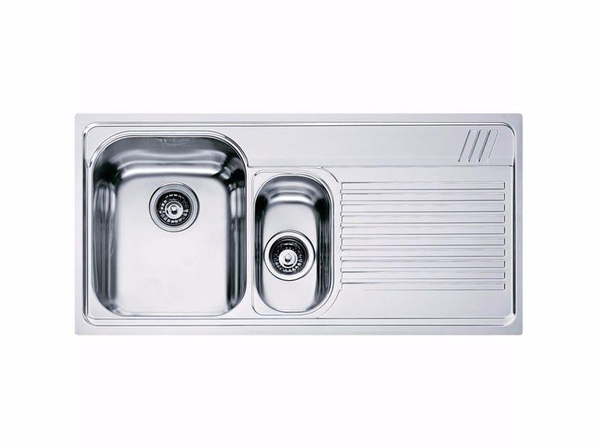 Lavello a una vasca e mezzo da incasso in acciaio inox con sgocciolatoio AMX 651 - FRANKE