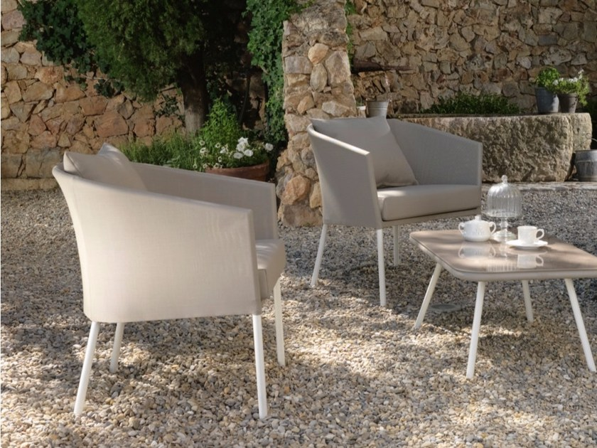 Garden armchair with armrests AMY | Easy chair - Talenti