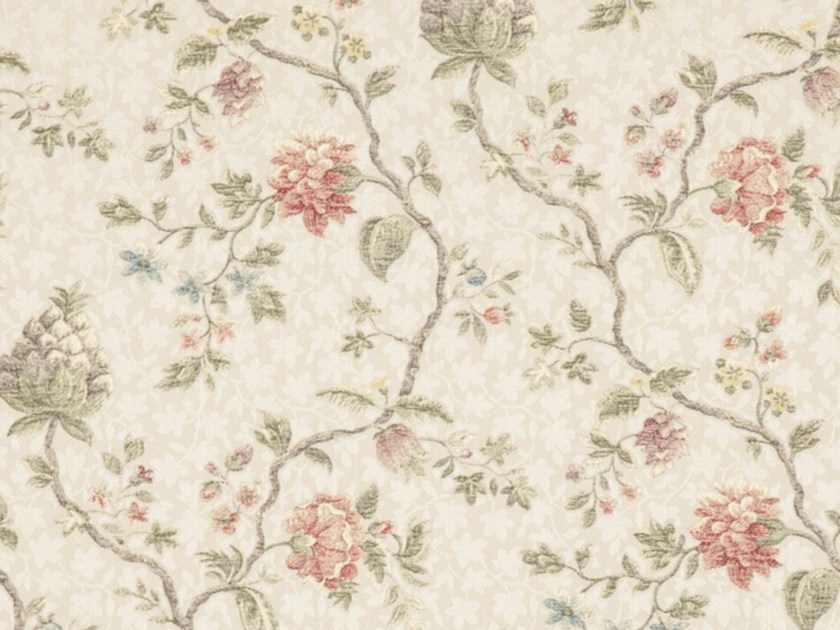 Viscose fabric with floral pattern for curtains ANAIS - Gancedo
