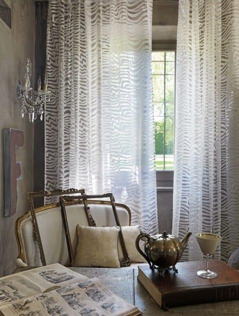 Animalier devore fabric for curtains ANDRÈ | Devore fabric - Via Roma 60 by Gruppo Carillo