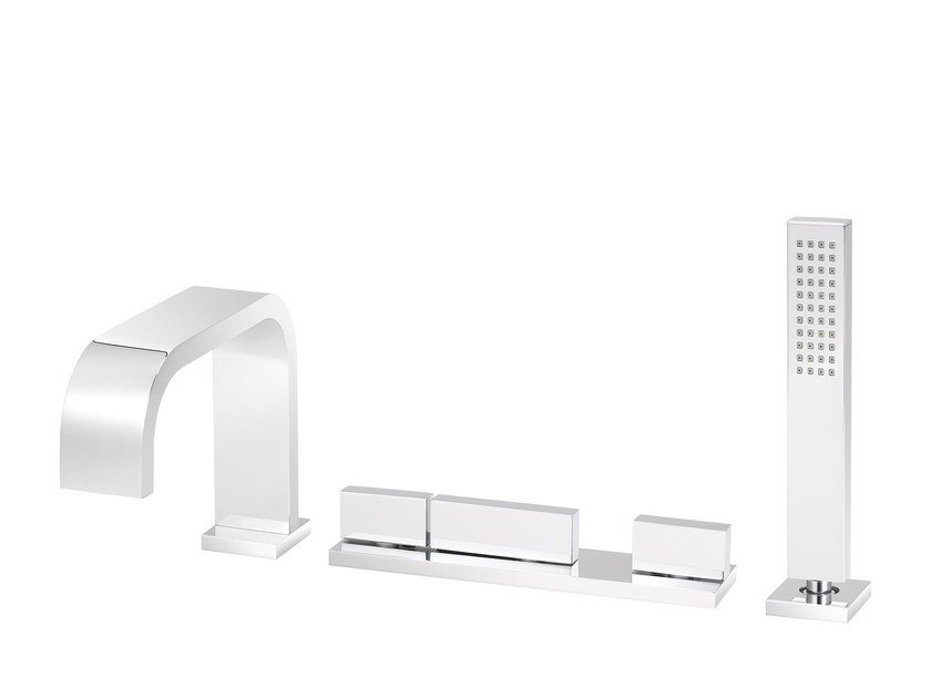 Thermostatic bathtub set with hand shower ANDREW | Bathtub tap with hand shower - rvb