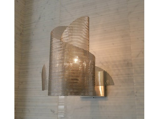 Stainless steel wall light ANGE & DÉMON N°19 - Thierry Vidé design