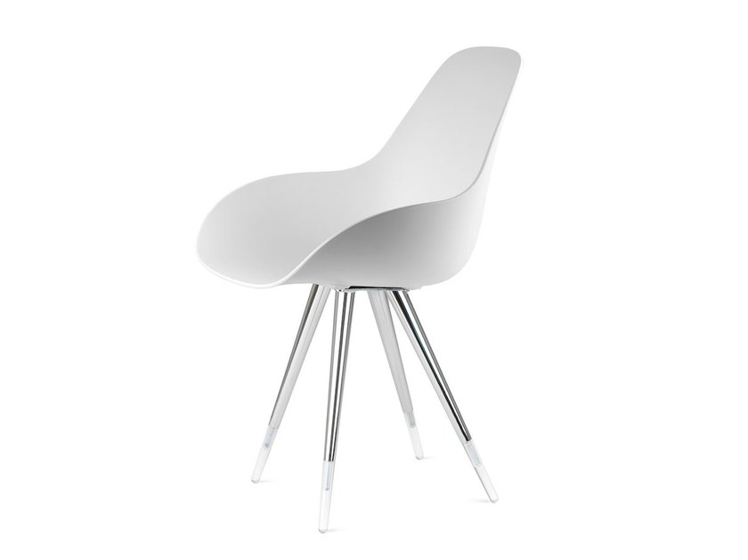 Polypropylene chair ANGEL DIMPLE CLOSED - KUBIKOFF
