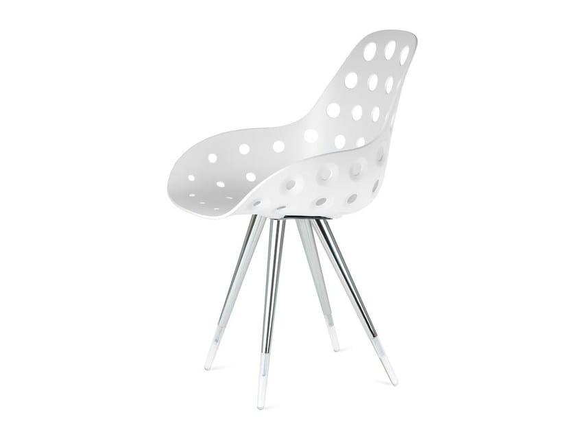 Polypropylene chair ANGEL DIMPLE - KUBIKOFF