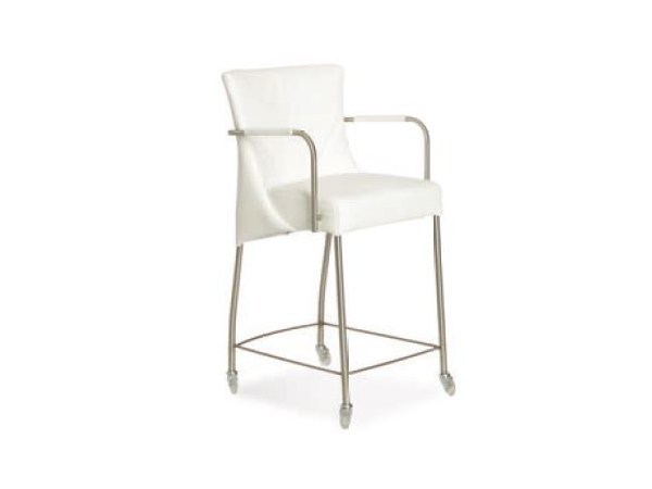 Upholstered counter stool with armrests ANGELINA | Chair with armrests - Joli