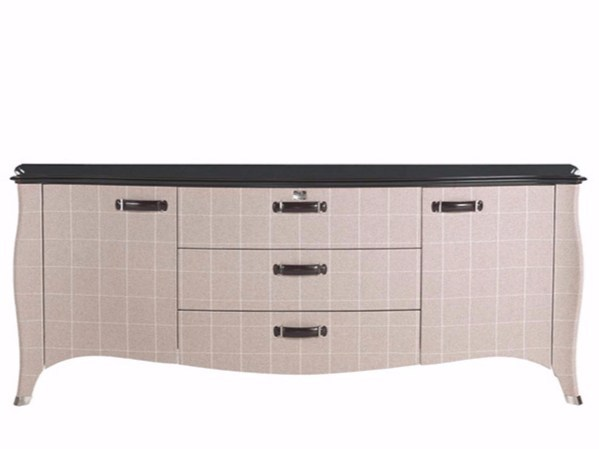 Wooden sideboard covered with velvet ANGIE - Gianfranco Ferré Home