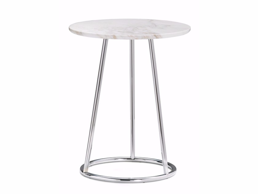 Round marble coffee table ANGLE | Round coffee table - Flou
