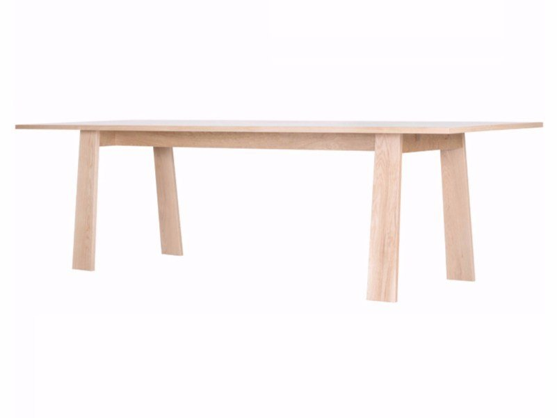 Rectangular oak dining table ANNA by ASPLUND