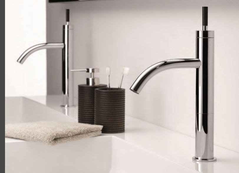 Contemporary style chrome-plated steel bidet mixer with aerator with polished finishing ANOA CORNE NOIRE | Bidet mixer - INTERCONTACT