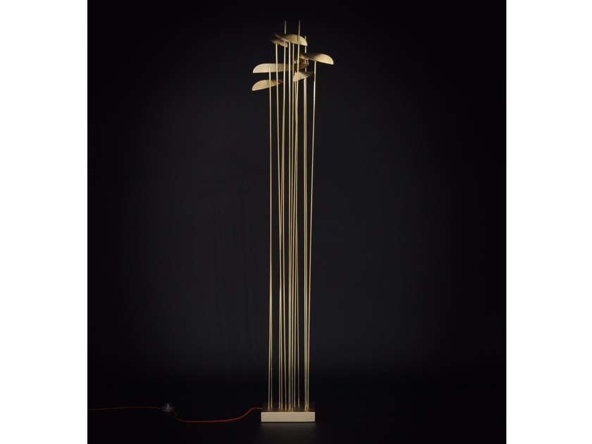 LED brass floor lamp ANODINE | Floor lamp - Paolo Castelli