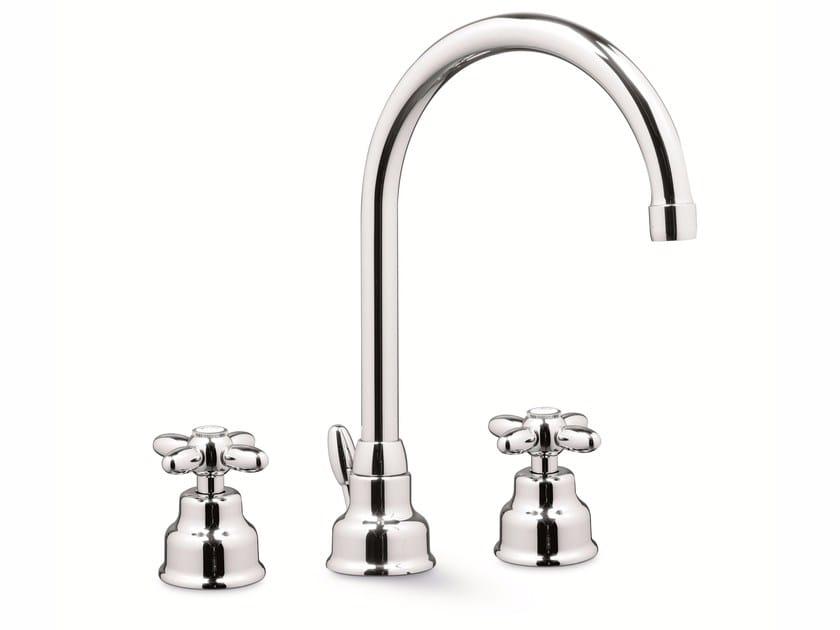 3 hole countertop washbasin tap ANTEA | Washbasin tap by NEWFORM