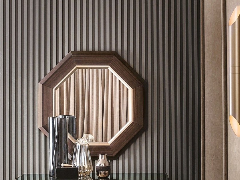 Wall-mounted framed mirror ANTHEA by Casamilano