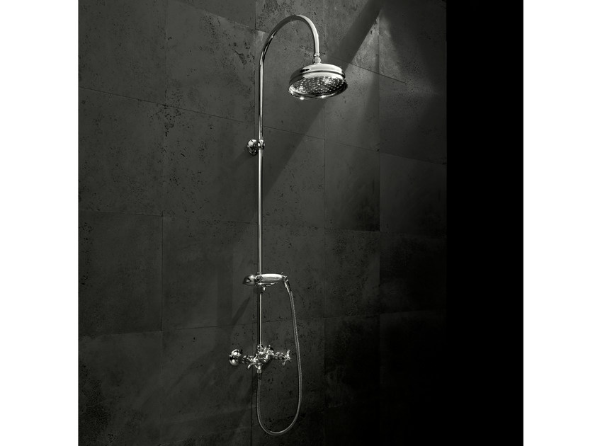 Shower tap with hand shower with overhead shower ANTICA | Shower tap by Signorini