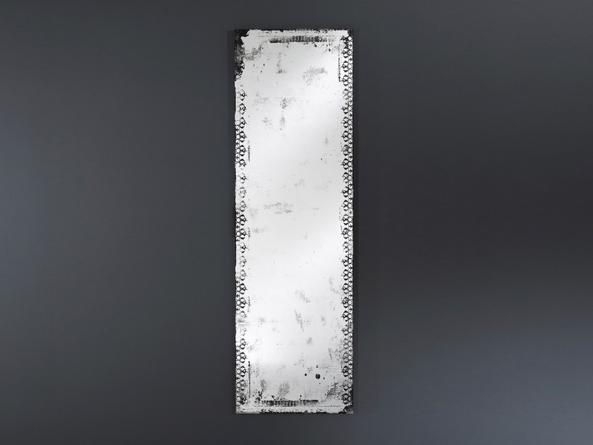 Rectangular wall-mounted mirror ANTIQUE HALL - DEKNUDT MIRRORS