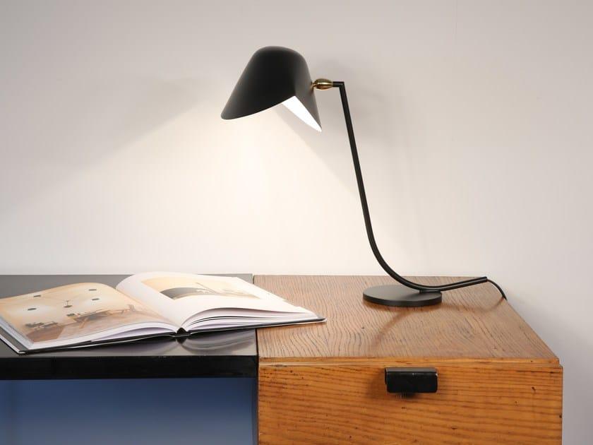 Adjustable metal desk lamp ANTONY - Editions Serge Mouille