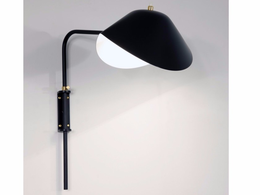 Direct-indirect light adjustable wall light ANTONY - Editions Serge Mouille
