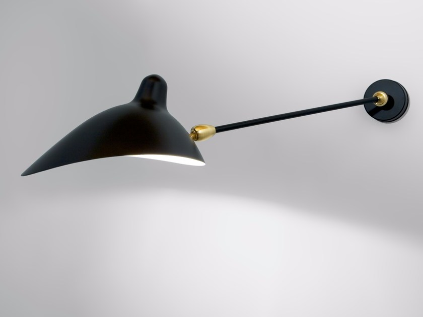 Adjustable metal wall lamp AP1B2R | Wall lamp - Editions Serge Mouille