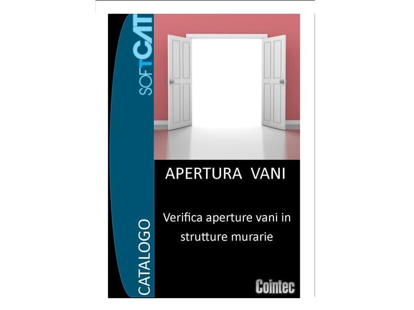 Masonry and mixed construction calculation APERTURA VANI by COINTEC