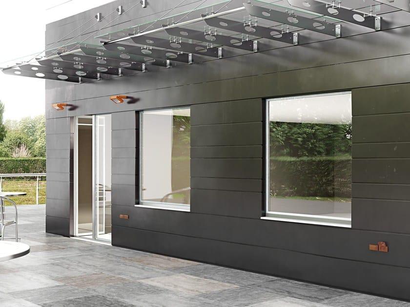Aluminium casement window APHRODITE STRUTTURALE - Pail Serramenti