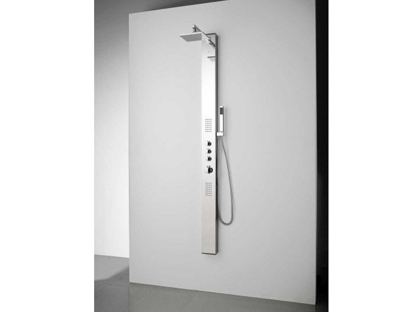 Thermostatic shower panel with hand shower APOL by Systempool
