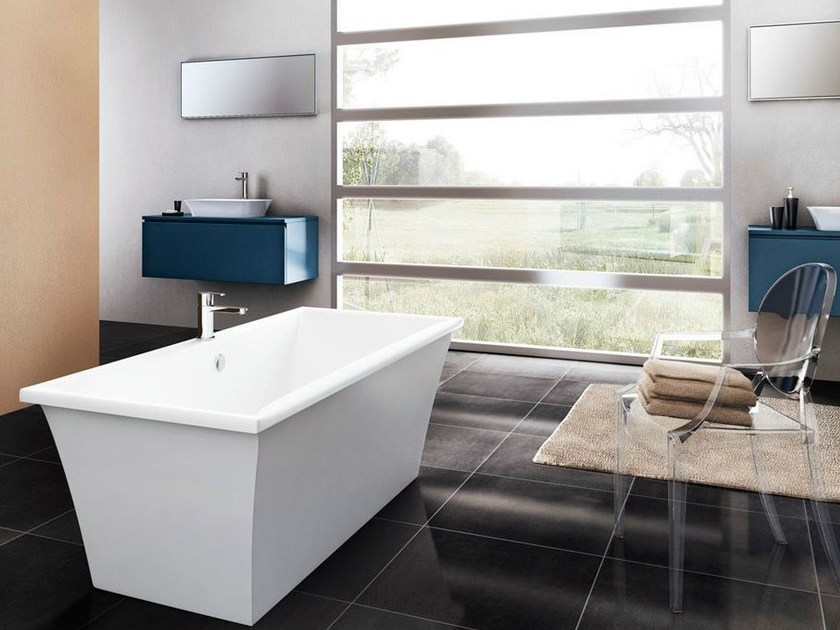 Freestanding rectangular bathtub APOLLO - Polo