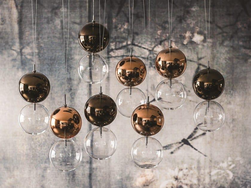 lampada a sospensione in vetro borosilicato apollo - cattelan italia - Lampade Arabe Italia
