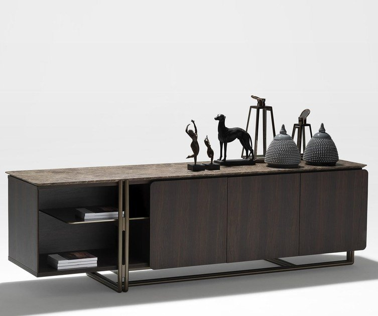 Lacquered sideboard with doors APOTEMA | Sideboard - Esedra by Prospettive
