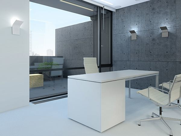 Indirect light aluminium wall light APP - PANZERI