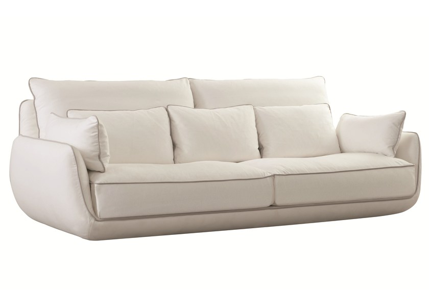 3 seater fabric sofa with removable cover APPROCHE - ROCHE BOBOIS