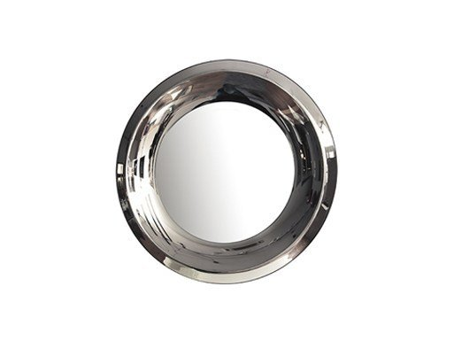 Round wall-mounted framed mirror AQUA | Round mirror - RIFLESSI