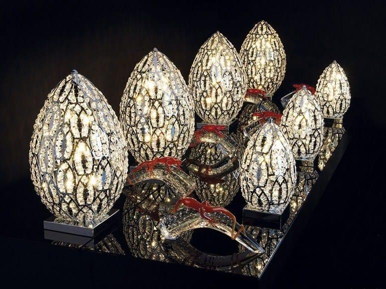 lampada da tavolo in cristallo arabesque egg | lampada da tavolo ... - Larabesque Lampade